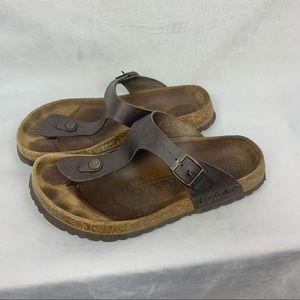 BETULA by BIRKENSTOCK Gizeh Thong leather sandals